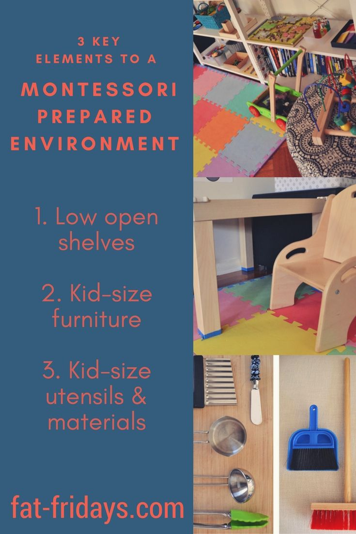 MC's prepared environment at home contains 3 key elements: Low open shelves, kid-sized furniture, and kid-sized tools and materials. Using appropriate sized tools aids their ability to control and coordinate the tool, ensuring proper utilisation without frustration of constant adjustment and error. #Montessoripreparedenvironment #fatfridays #Montessoriathome