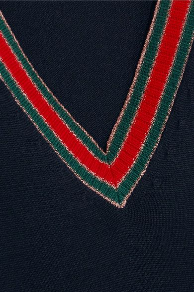 Gucci - Striped Wool Sweater - Midnight blue
