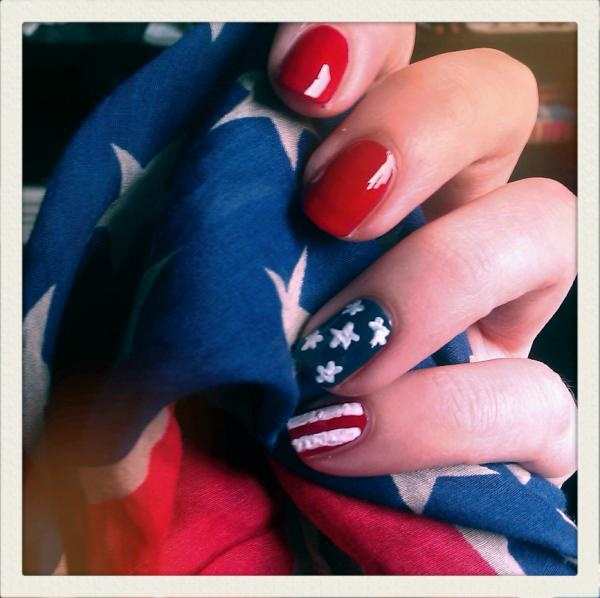 American Nails - totally doing this for 4th of july!