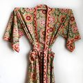 Anokhi Cotton Suzani Patterned Robe by be still homewares