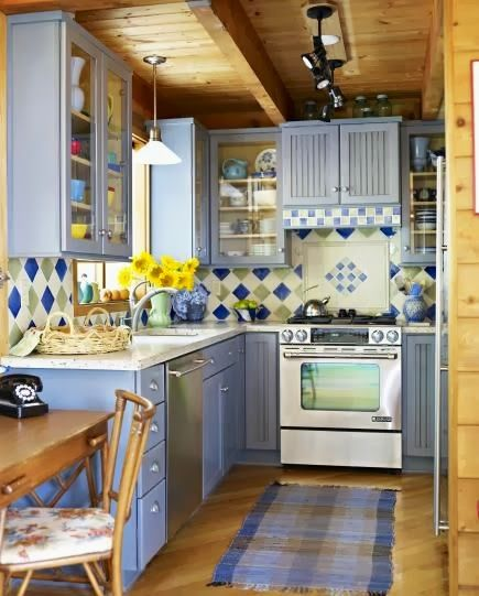 beauty and love: colored kitchens