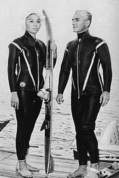 Shah and shahbanu water ski session http www for Shah bano farah pahlavi