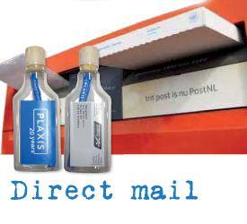Direct Mail Flessenpost. Verpak en verzendt jouw mailing in een fles. Brievenbuspost. 100% leesgarantie. Jouw flessenpost tussen al die stapels post...