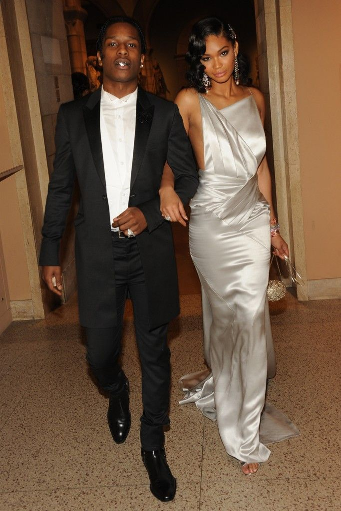 ASAP Rocky and Chanel Iman in Topshop [Photo by Steve Eichner]