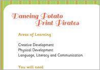 Dancing Potato Print Pirate