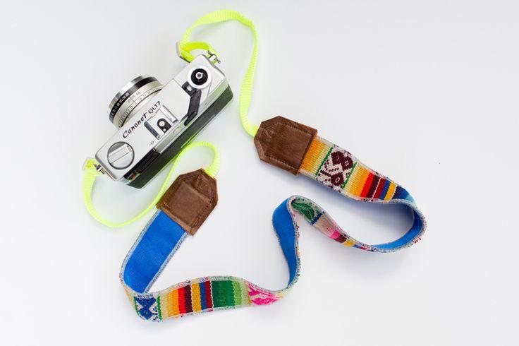 Grey/Yellow Camera Strap