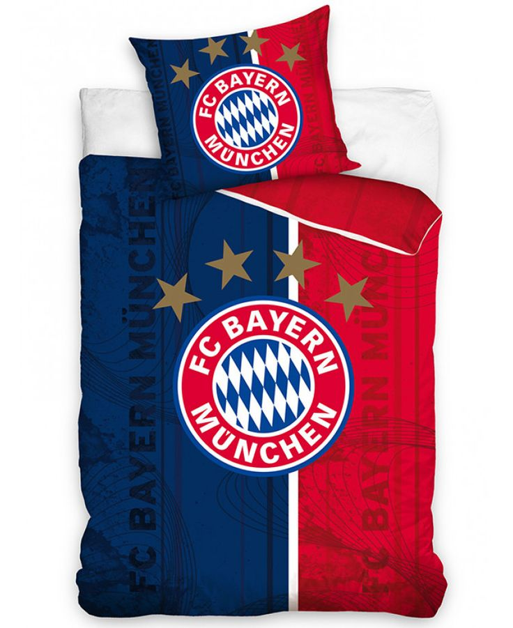 This awesome FC Bayern Munich Crest Single Cotton Duvet Cover Set would look great in any fans bedroom! Free UK delivery available