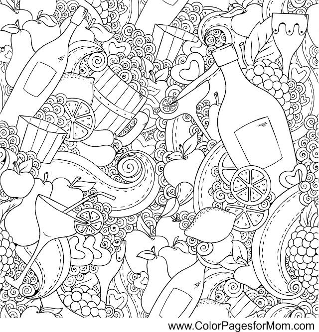 wine coloring page 2 mandala coloringadult coloring pageswine cellarfood coloringcoloring bookscoffee teazentanglesfractalsfree printable - Free Printable Coloring Book Pages For Adults 2
