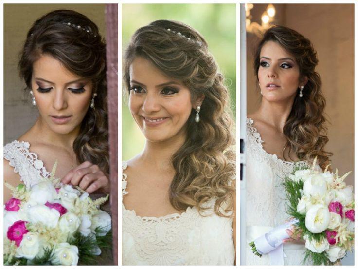 Acessório de cabelo para noiva boho chic - Fotos Prime Cinema