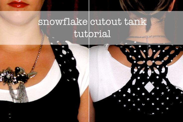 Crafty:  Too cute.  Tutorial for cutout tank top.  Note: I would amend the instructions to change the order of cutting and sewing.  It would be MUCH easier to draw the design, sew around the design, and THEN actually cut it out.  You would also be able to cut closer to the stitch line.