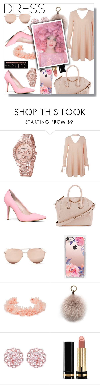 """Choker dress"" by lory-x ❤ liked on Polyvore featuring Boohoo, ALDO, Givenchy, Linda Farrow, Casetify, AURA Headpieces, Oscar de la Renta, Emilio!, Gucci and Ashish"