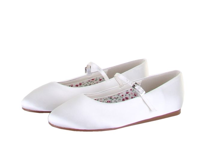 Candy - Ivory Satin Bar Kids Shoes by Rainbow Club - Buy online from £29.00.