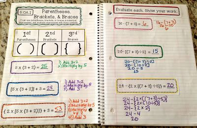 FINALLY: 5th Grade Interactive Math Notebooks!!!