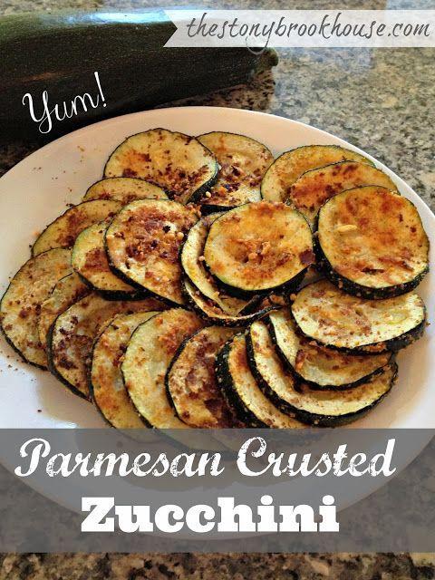 Parmesan Crusted Zucchini ~ YUM!!