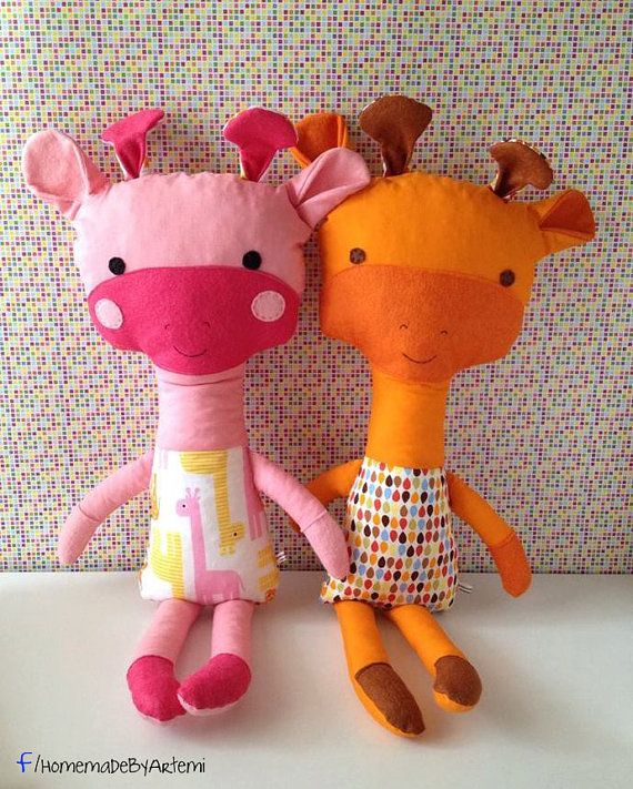 Giraffe Softie Stuffed Toy by HomeMadebyArtemi