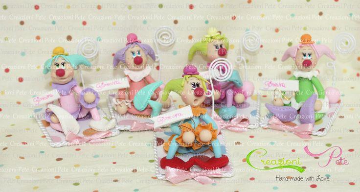 clown favor baby girl  Baby shower favor for girl   Italian Favors, Baby shower gift,