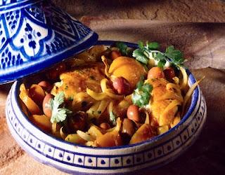Dit is een Marokaans gerecht : Kip Tajine