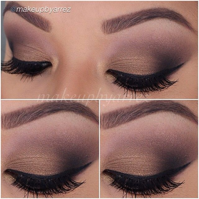 Smokey eye look using Motives eyeshadow in Toast, Chocolight, Onyx, Latte and Vanilla