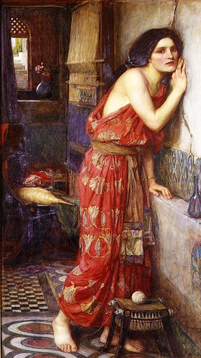 John William Waterhouse. I love his work; I can't help but think of stories when I encounter his images.