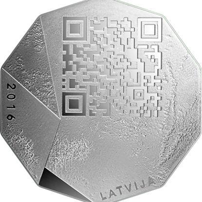 Latvian collector coins. Baltics, Northern Europe.  National Entrepreneur