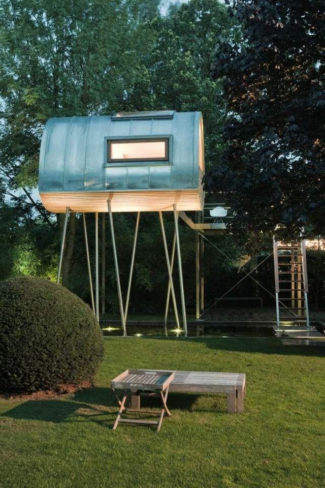 Die 25+ Besten Ideen Zu Futuristisches Hause Auf Pinterest ... Modernes Baumhaus Pool Futuristisches Konzept