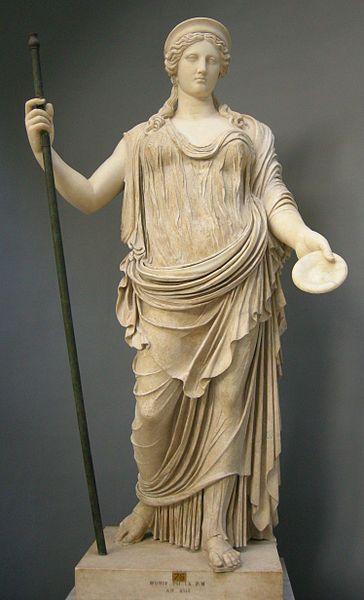 File:Divinità sul tipo della hera borghese, copia romana da originale della scuola di fidia, da tor bovacciana (ostia), inv. 2246.JPG