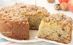 Torta mele e noci sofficissima e profumata senza burro e senza sbattitori