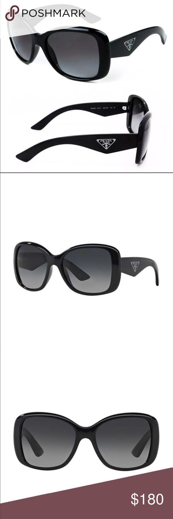 Prada 32PS Triangle Sunglasses 1AB5W1 Black - NWT Prada 32PS Triangle Sunglasses 1AB5W1 Black Details: NWT Model: Prada 0PR32PS Sunglasses Frame Color: Black Lens Color: Polar Grey Color Code: 1AB5W1 Size: 5717-140 Gender: Female Shape: Square Frame Material: Plastic Prada Accessories Glasses