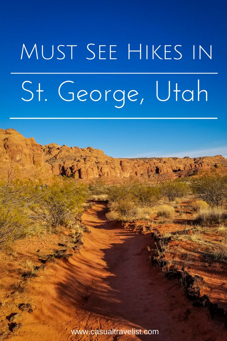 Zion National Park may be the big draw for the thousands of visitors to St. George, Utah but the stunning southwestern landscapes don't end at the park borders. St. George is home to four state parks that offer up beautiful red rock scenery that locals and in-the-know visitors love to explore. https://casualtravelist.com/blog/st-george-utah-snow-canyon-state-park-red-cliffs-desert-reserve/  #utah #hiking adventure travel southwest 