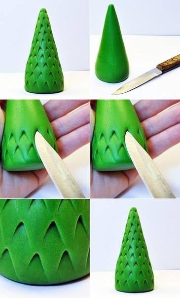 9 mini tutoriels pour faire des sapins en pâte fimo, à sucre, amande, fondant! - Bricolages - Des bricolages géniaux à réaliser avec vos enfants - Trucs et Bricolages - Fallait y penser !