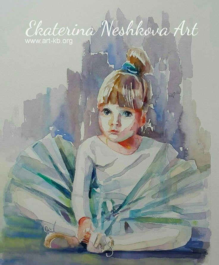 """Ekaterina Neshkova Art """"Little ballerina"""""""