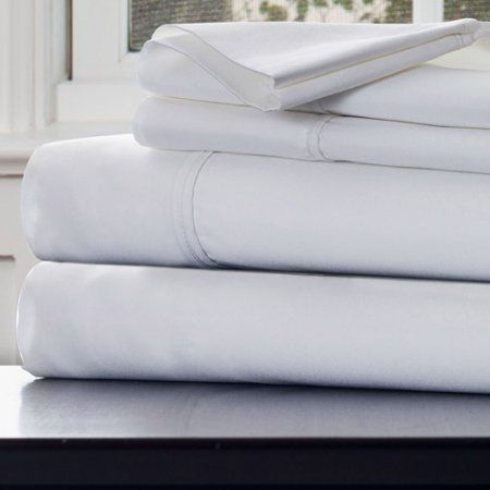 Somerset Home 1000 Thread Count Cotton Sateen Sheet Set, White