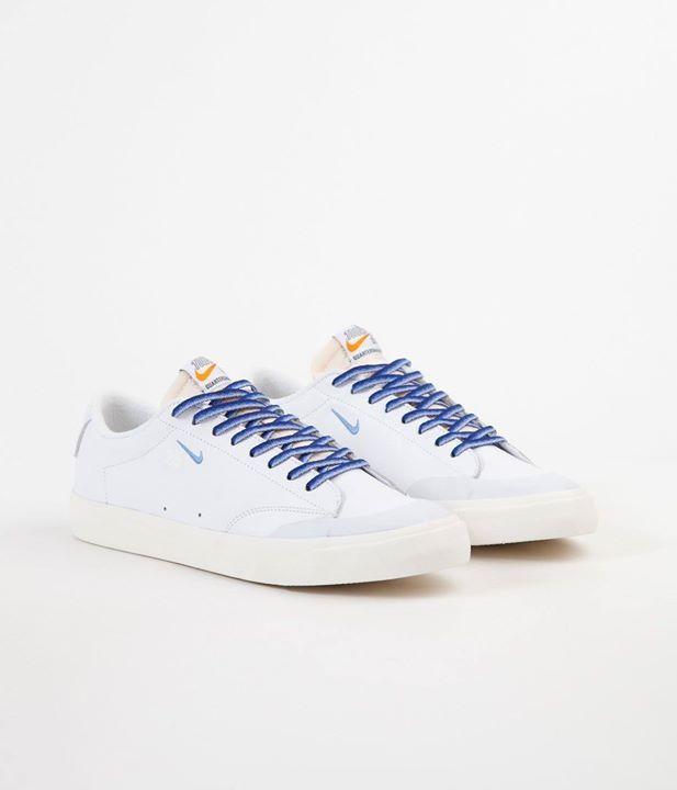 Nike Sb Shoes Blazer Low Xt X Quartersnacks White University Blue Sail 7 Snapchat Https Ift Tt 2izonfx Nike Sb Shoes White Sneaker University Blue