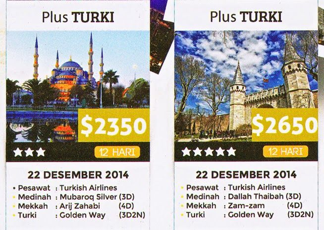 Umroh dahulu baru wisata ke Turki info dan pendaftaran Telp :            021-68104756 Hp.               0857-7000-4679 WhatsApp.   0896 - 3610 - 4533 PIN BB :       7CE9C9ED / 24EE171B