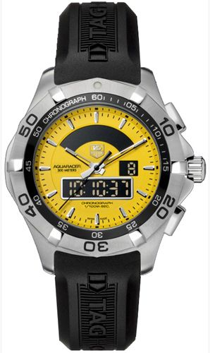 Tag Heuer Aquaracer Chronograph Black Rubber Men's Watch