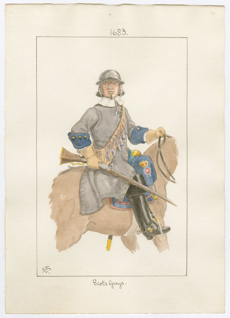 British; Scots Greys, trooper, 1683 by Charles Lyall