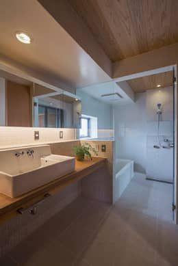 きなりの家: ATELIER Nが手掛けた浴室です。