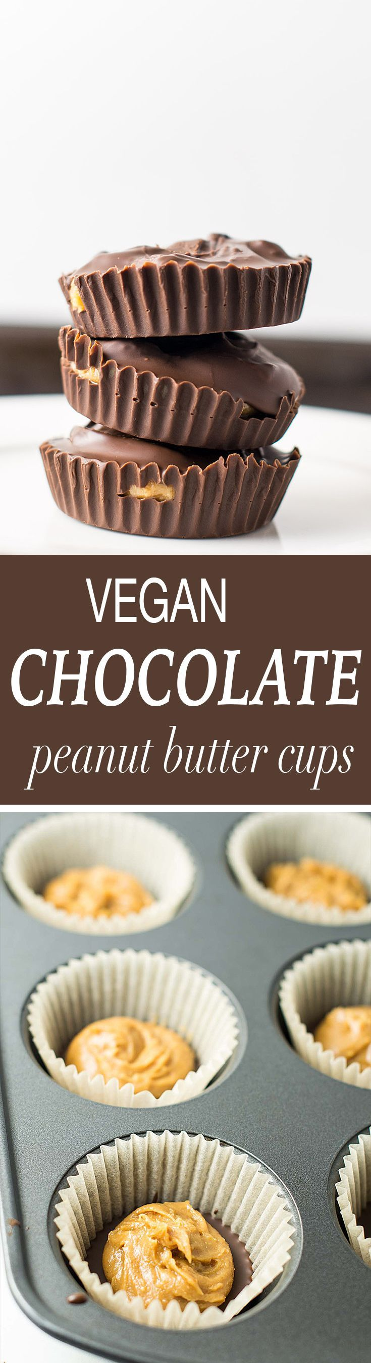 easy vegan chocolate peanut butter cups made using just 7 ingredients. These taste even better than Reese's cups and are highly addictive!