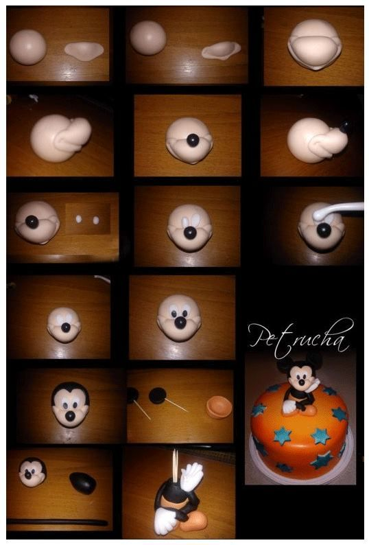 Mickey Mouse. It is created by Petra-Bartosova    http://www.tortysnov.sk/fotopostup/mickey-mouse-322