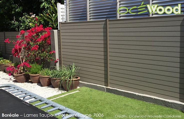 Jolie cloture de jardin en composite - Taupe - Océwood®
