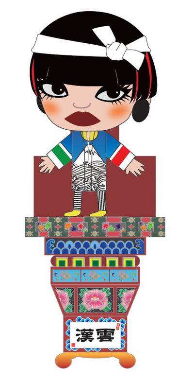 ファッションデザイナー コシノジュンコのイメージキャラクター「KONOKO」をモチーフにした「ジュンコねぷた」が、青森県五所川原市の「立佞武多(たちねぷた)祭り」に登場する。 現存する人物がモチーフとなっているたちねぷたが作られるのは初めて。