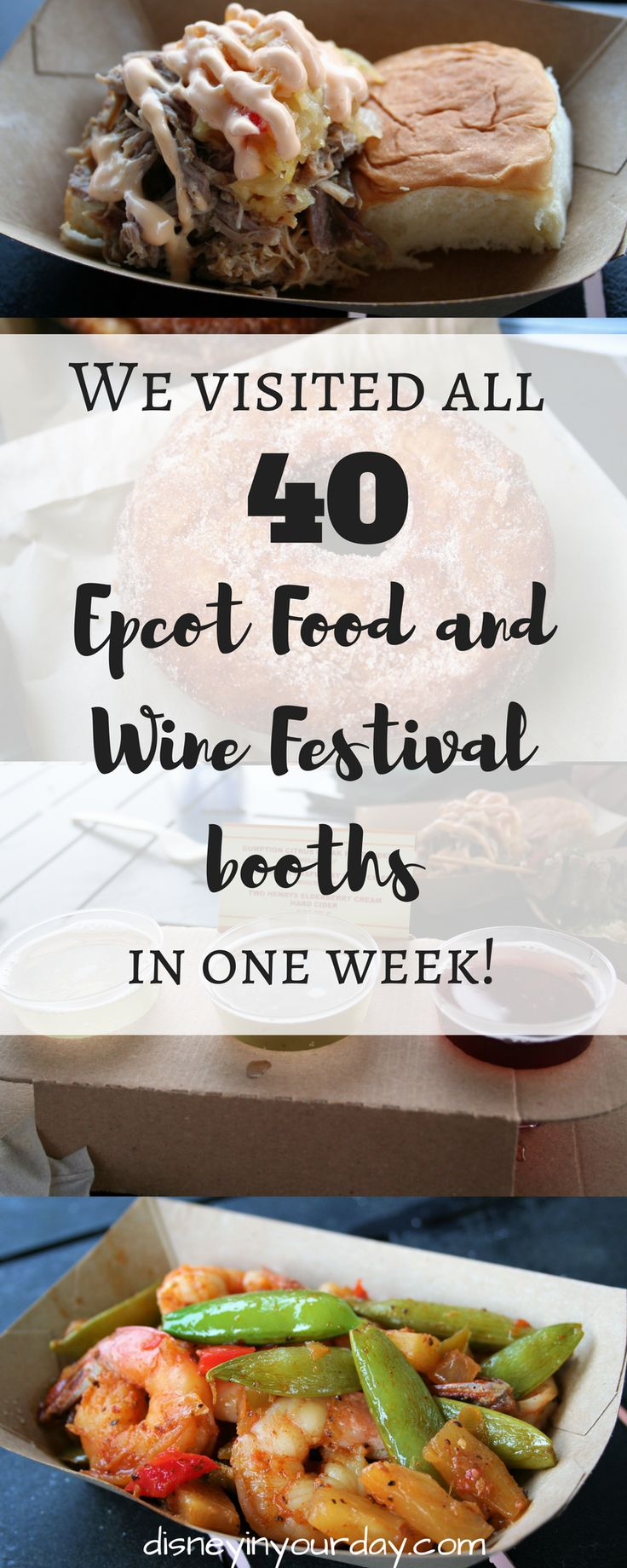 Food and Wine booths: Islands of the Caribbean, Refreshment Port, New Zealand, Australia, The Almond Orchard, Patagonia, Hawaii, Farm Fresh, Greece, Thailand - Disney in your Day