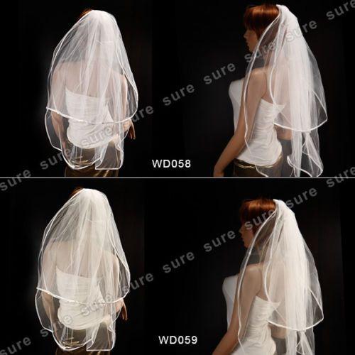 1-2-Metri-Velo-da-Sposa-Wedding-Veil-Bianco-Avorio-per-Matrimonio-con-Pettine