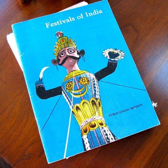 Festivals of India 1968 Indian Government by ProsperosBookshelf #vintagebook