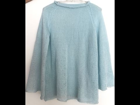 Alize Angora Gold Star ile Şık Bluz Yapımı-Making Blouse with Alize Angora Gold Star - YouTube
