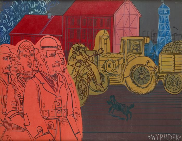 Edward Dwurnik - Wypadek z cyklu Chwila, 1972