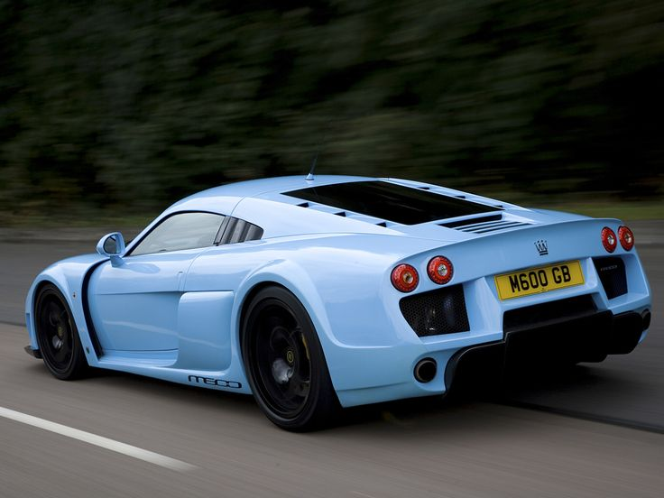Light Blue Noble M600 Rear Gasoline And Sparks Cars