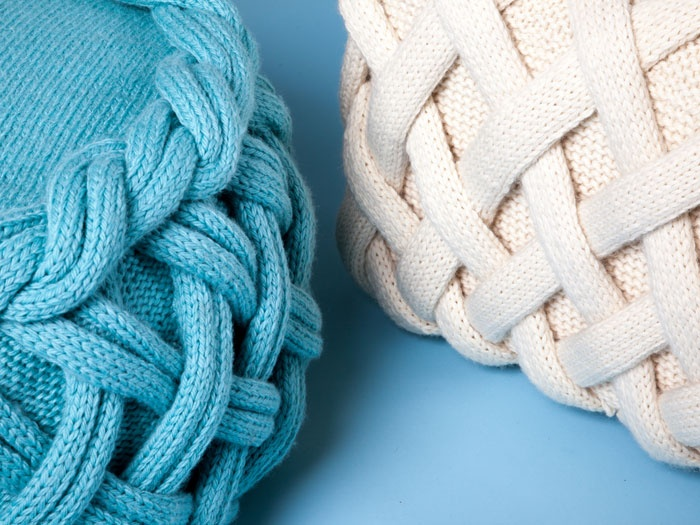 Claire Anne Ou0027Brien Knitted And Woven Pouffes