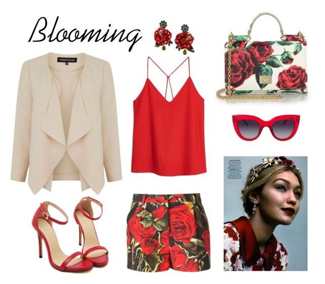 """Spring"" by kseniavarlamova on Polyvore featuring мода, Dolce&Gabbana, MANGO и Warehouse"