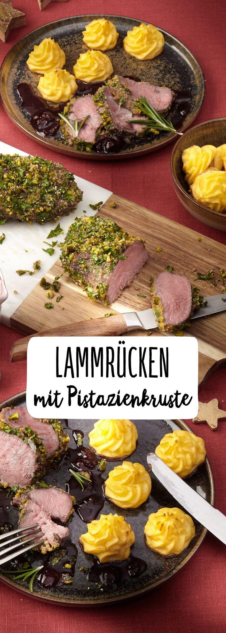 Lammfilet mit Pistazienkruste & Herzoginkartoffeln